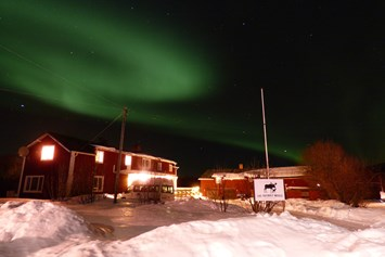 Rollstuhl-Urlaub: The beautiful Northern Lights over The Friendly Mose - The Friendly Moose Lapland