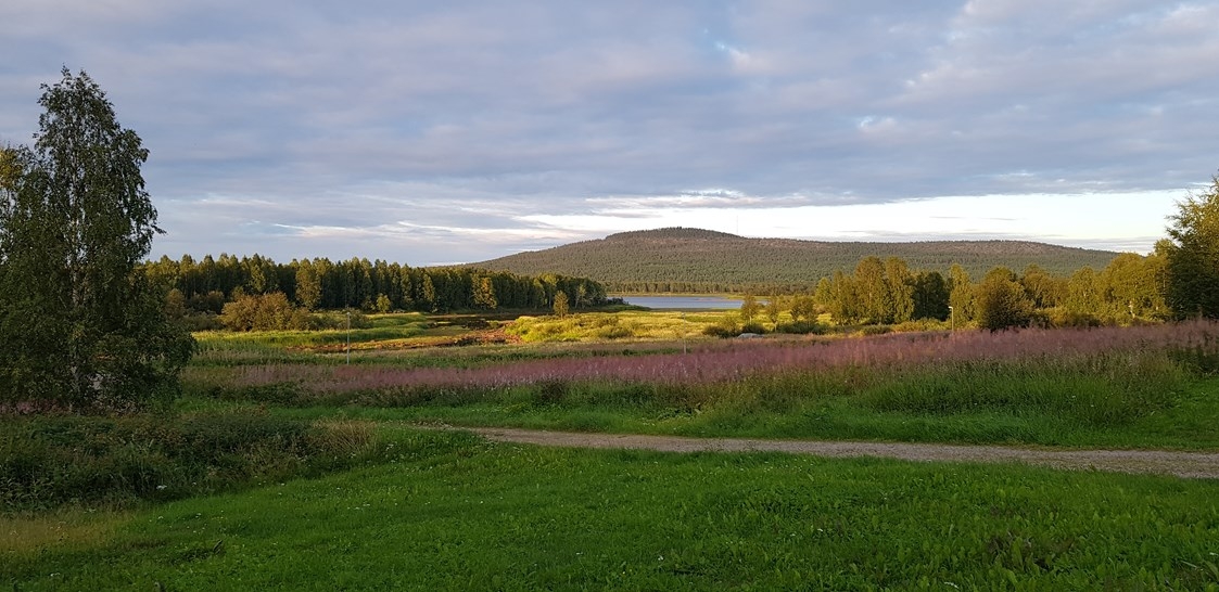 Rollstuhl-Urlaub: There are beautiful views from the property and accessible footpaths by the Friendly Moose throughout the year. - The Friendly Moose Lapland